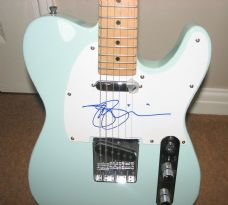 A 13 JOE SATRIANI SIGNED TELE STYLE GUITAR CUSTOM SIGNED PICKGUARD WAS £225 NOW £190